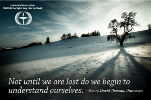 being lost understanding thoreau quote by uumedia with nature photo